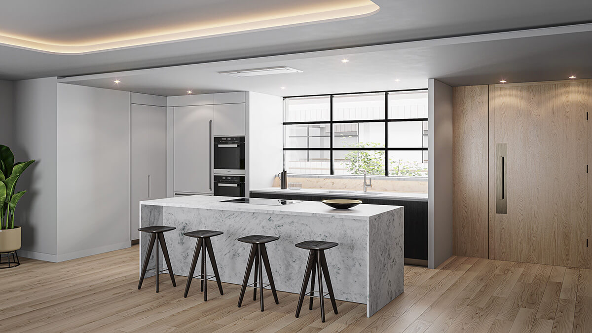 Marylebone Square Penthouse Kitchen