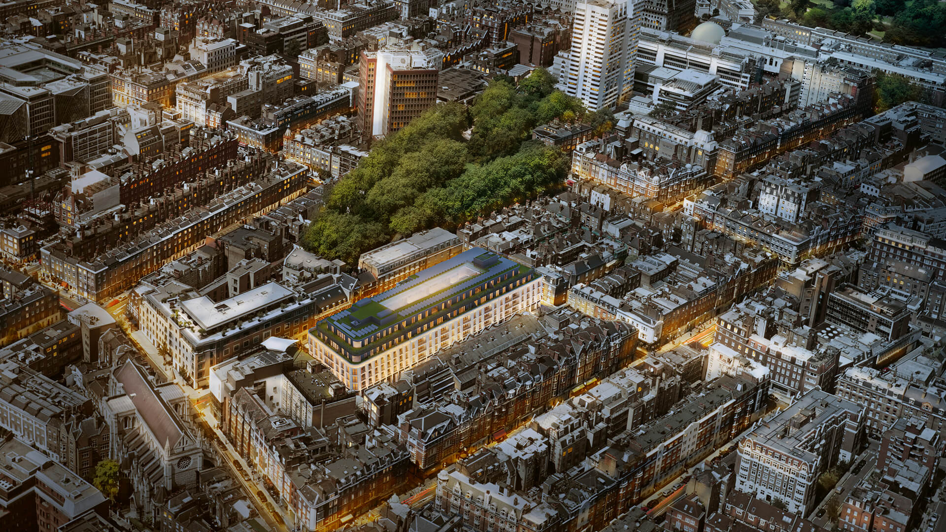 Marylebone Square Night Rendering